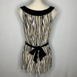 AK Anne Klein All Over Print Tank Top With Belt